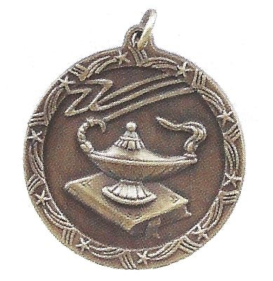 Economy Lamp of Knowledge Medal