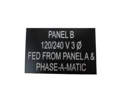 Plastic Nameplate