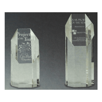 Tower Prism Trophy with Flat Front