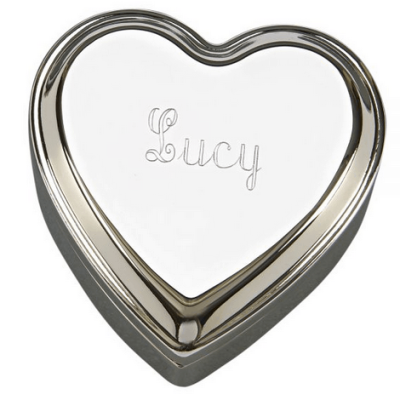Polished Silver Heart Box