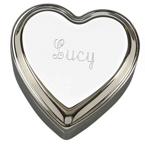 Polished Silver Heart Box
