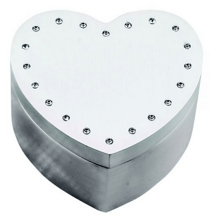 Heart Jewelry Box with Crystals