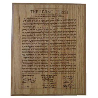 The Living Christ Plaque