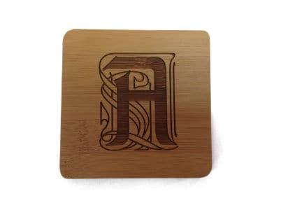 Engraved Bamboo Coaster