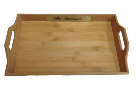 Personalized bamboo Tray