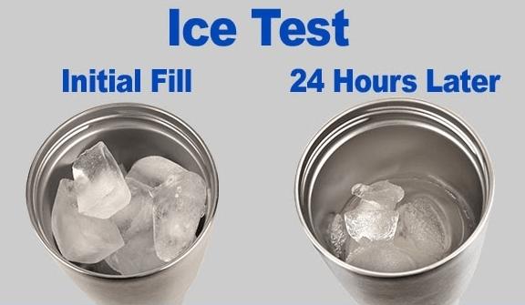 Polar Camel Tumbler Ice Test
