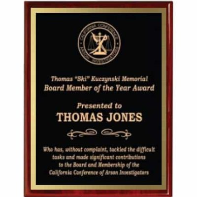 Red Piano Finish Recognition Plaques