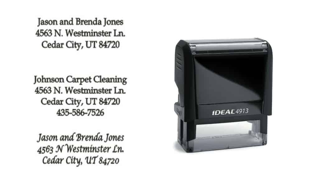 Self Inking Address Stamps | Re-Inkable & No Mess