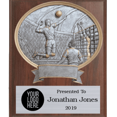 Legends Volleyball Plaque Male