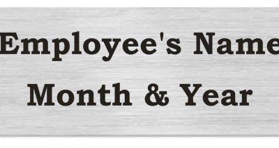 Silver Perpetual Plaque Plate for Employee of the Month Plaques