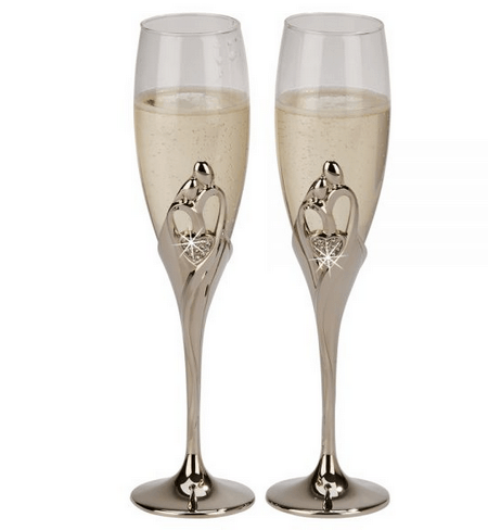 Embrace Wedding Flutes