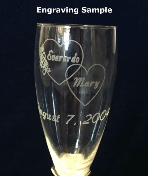 Engraved Flute Glasses