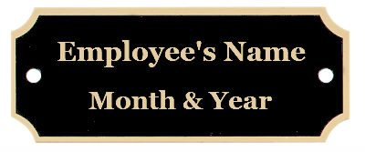 Specialty Employee of the month plates