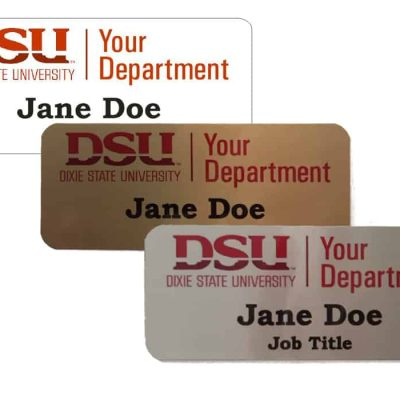 Dixie State University Department Name Tags