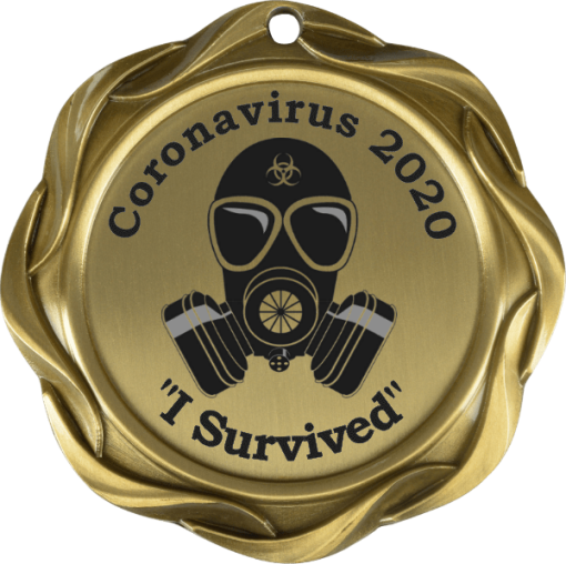 I survived coronavirus medal