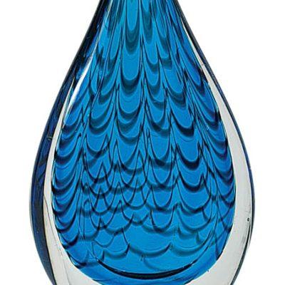 Blue Teardrop Artglass Trophy
